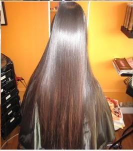 smoothing hair treatment after