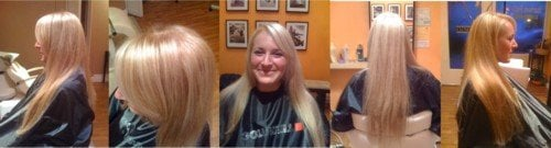 Hair color touch up & ultra blonde highlight.