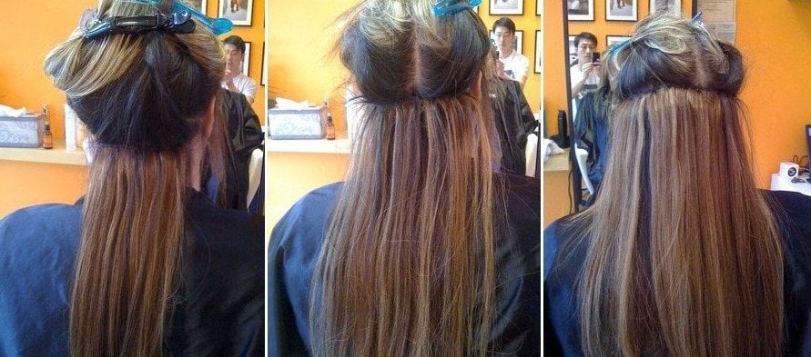 hair extension before